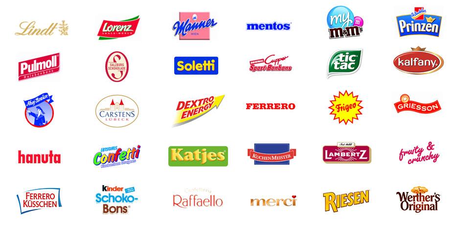 Süßigkeiten Logos