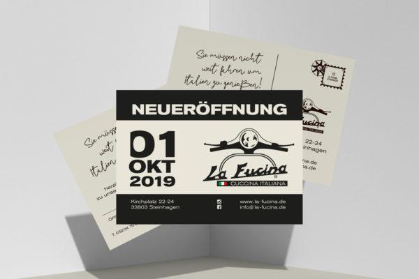 primomedia_guetersloh_werbeartikel_werbeagentur_gestaltung_La_Fucina_Postkarten